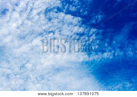 Fluffy Cloud On Sky, Dramatic Cloudy Sky Background