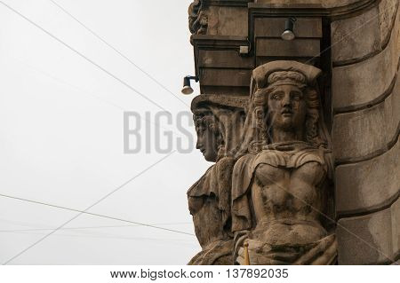 Caryatid Building St. Petersburg Institute of Law of the Russian Federation at Liteyny Avenue