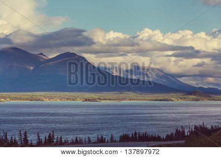 Serene scene by the lake in Canada