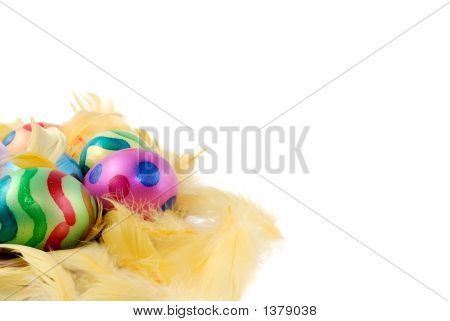 Colorful Painted Decorative Easter Eggs
