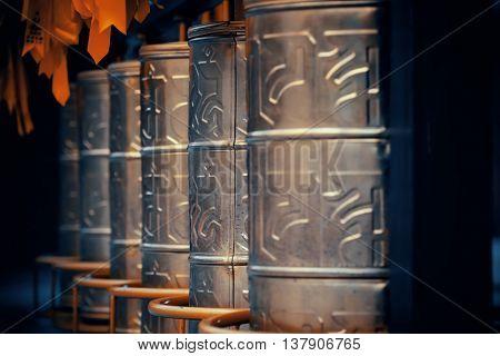 Copper bell in Chongsheng Monastery in Dali, Yunnan, China