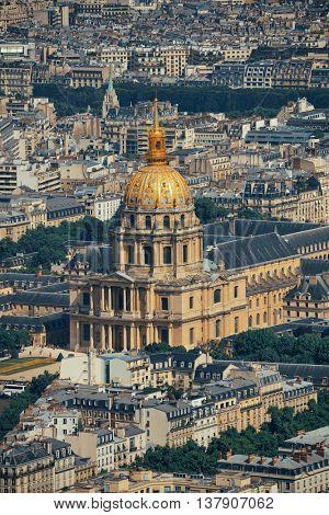 Napoleon's tomb rooftop view in Paris