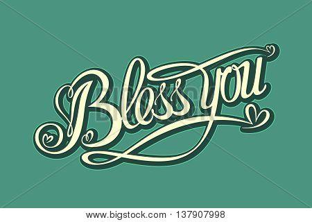 Pop Art comics icon Bless You. Speech Bubble Vector illustration.