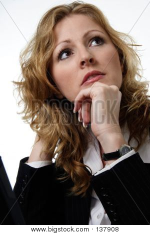 Pretty Corporate Woman Daydreaming