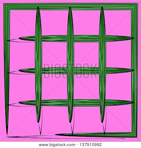 Watermelons. Background of watermelon grid of squares