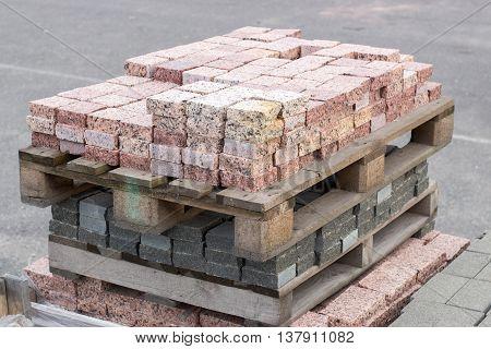 Granite Colored Paving Slab Texture, Building Material