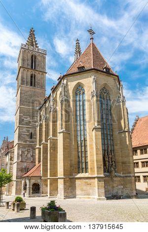 Rothenburg ob der Tauber Church, Franconia, Bavaria, Germany
