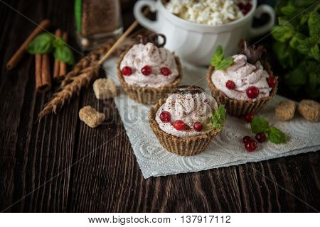 Homemade dessert from cottage cheese