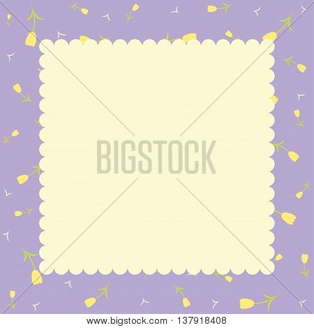 Template greeting card. Background in pastel tones