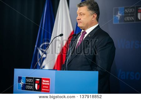 President Of Ukraine Petro Poroshenko At Nato Sammit