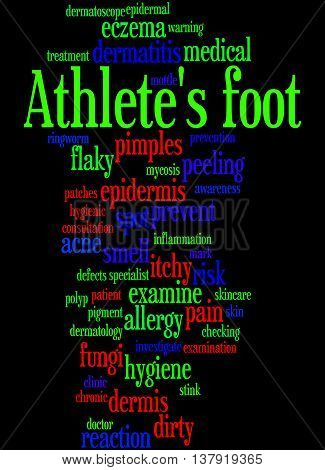 Athlete's Foot, Word Cloud Concept 3