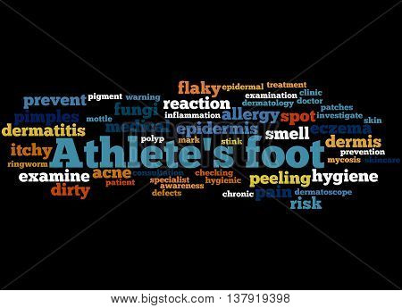 Athlete's Foot, Word Cloud Concept 5