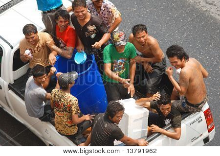 Songkran celebration in Thailand