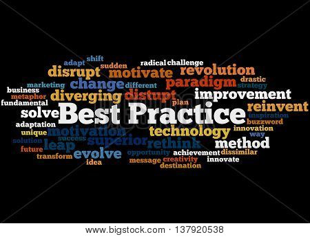 Best Practice, Word Cloud Concept 2