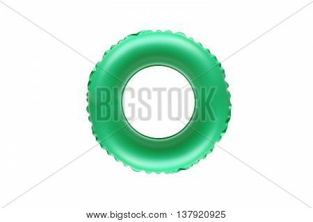 green lifesaver for kid isolated on white