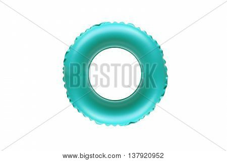 Cyan lifesaver for kid isolated on white