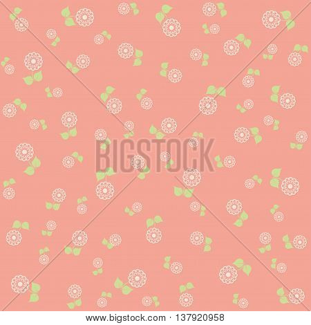 Beautiful flowers vector background in blue tones