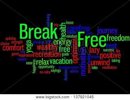 Break Free, Word Cloud Concept