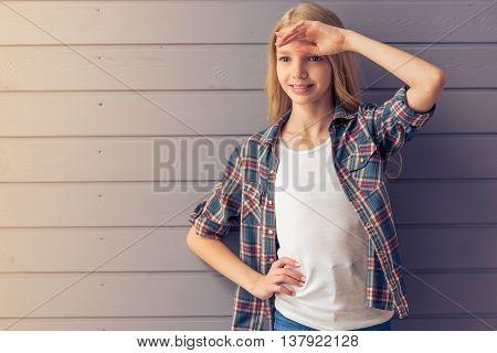 Blonde Teenage Girl
