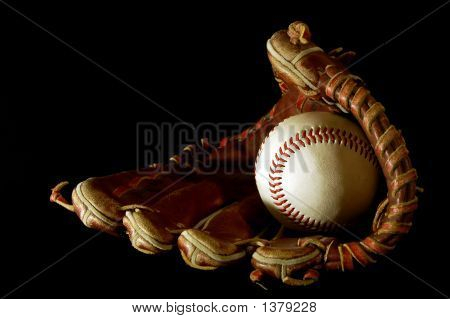 Baseball Glove In The Dark
