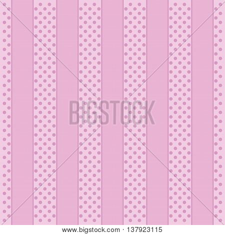 Polka Dot Pattern abstract pink Background. Vector