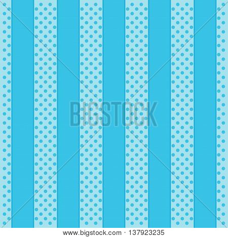 Polka Dot Pattern abstract blue Background. Vector