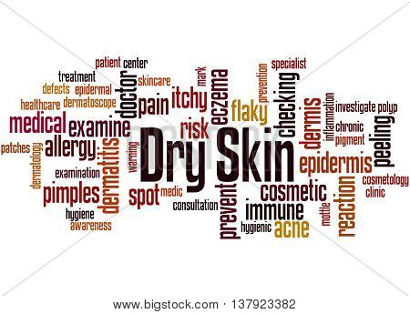 Dry Skin, Word Cloud Concept 9