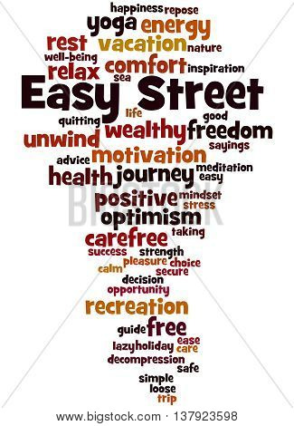 Easy Street, Word Cloud Concept 8