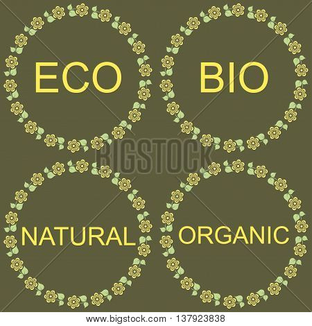 Eco Bio Natural Organic Labels green Collection