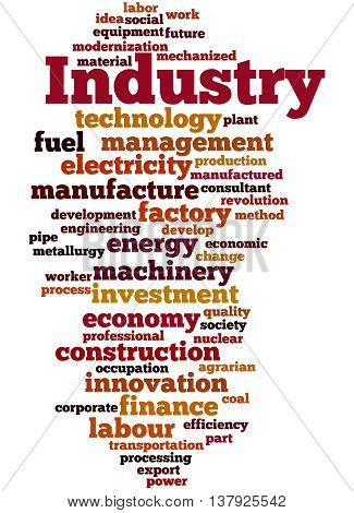 Industry, Word Cloud Concept 4