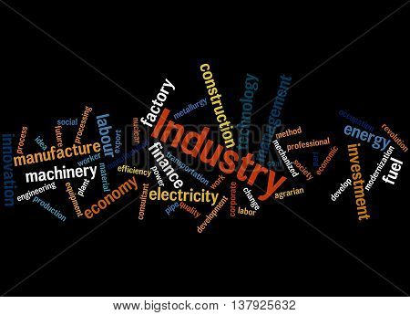 Industry, Word Cloud Concept 9