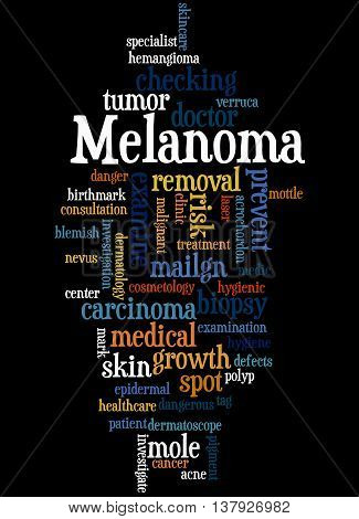 Melanoma, Word Cloud Concept 4