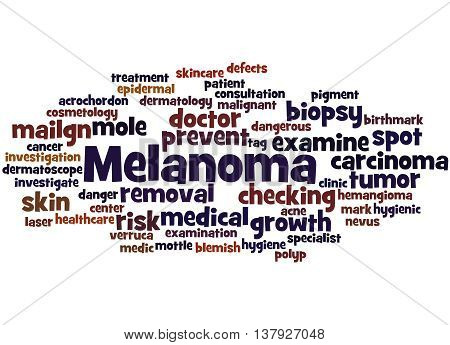Melanoma, Word Cloud Concept 7