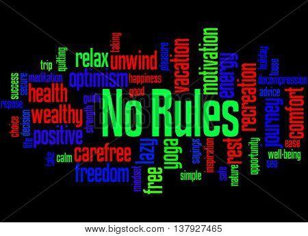 No Rules, Word Cloud Concept 4