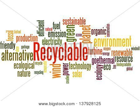 Recyclable, Word Cloud Concept 2