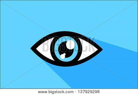 Abstract blue eye icon vector illustration art