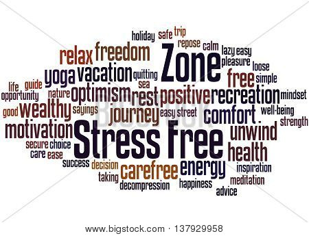 Stress Free Zone, Word Cloud Concept