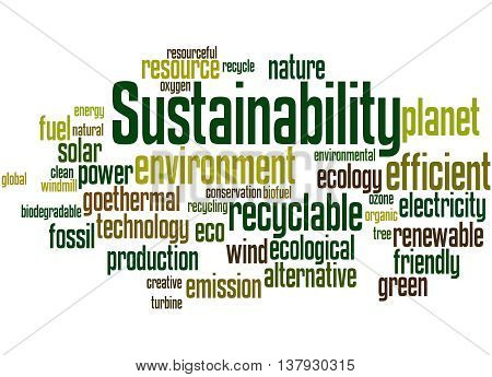 Sustainability, Word Cloud Concept 3