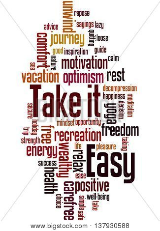 Take It Easy, Word Cloud Concept