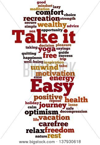 Take It Easy, Word Cloud Concept 2