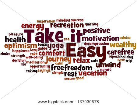 Take It Easy, Word Cloud Concept 4