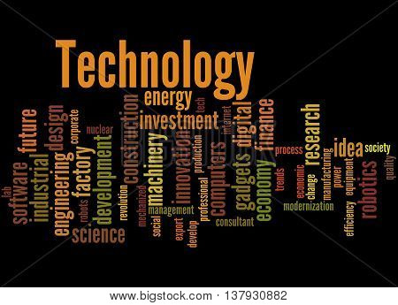 Technology, Word Cloud Concept