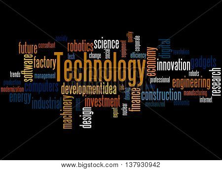 Technology, Word Cloud Concept 4