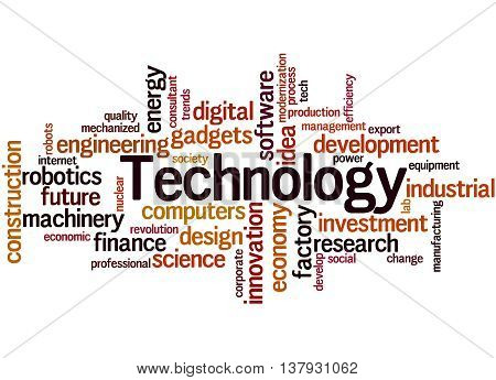 Technology, Word Cloud Concept 8