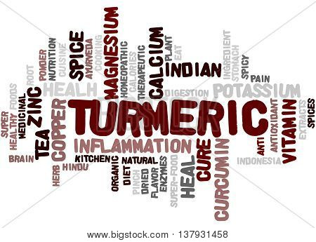 Turmeric, Word Cloud Concept