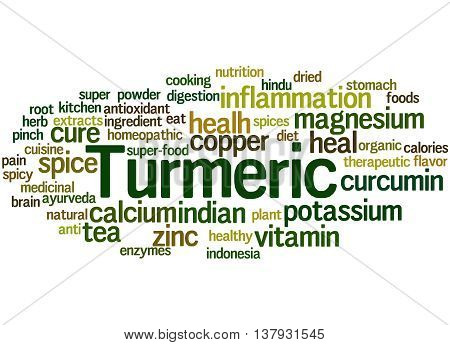 Turmeric, Word Cloud Concept 6
