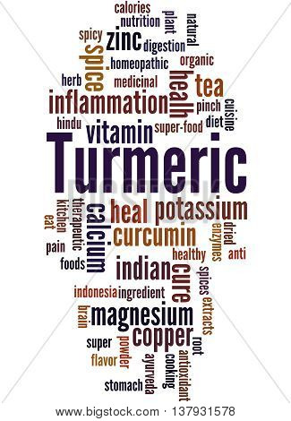 Turmeric, Word Cloud Concept 7