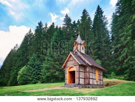 Wooden church in Slovakia Cierny Balog Vydrovo