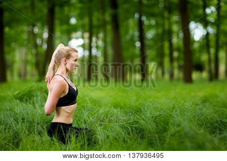 Nature Yoga Session In Woods