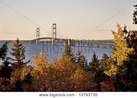 Mackinaw City Bridge Michigan